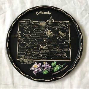 Vintage // Colorado State Metal Decorative Plate